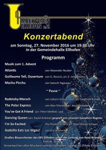 Jahreskonzert Großes Blasorchester 2016